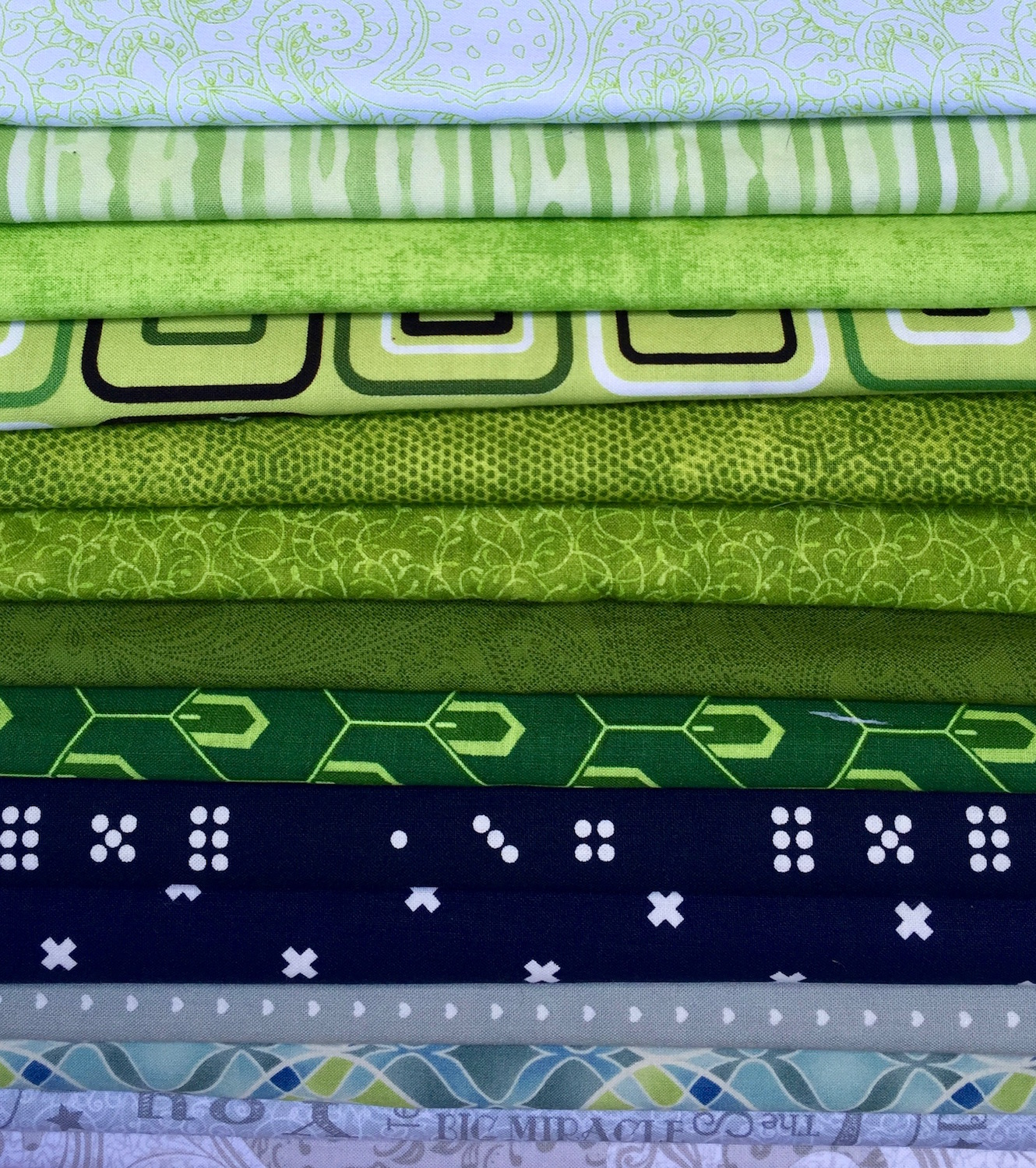 Fabric samples in our color palette