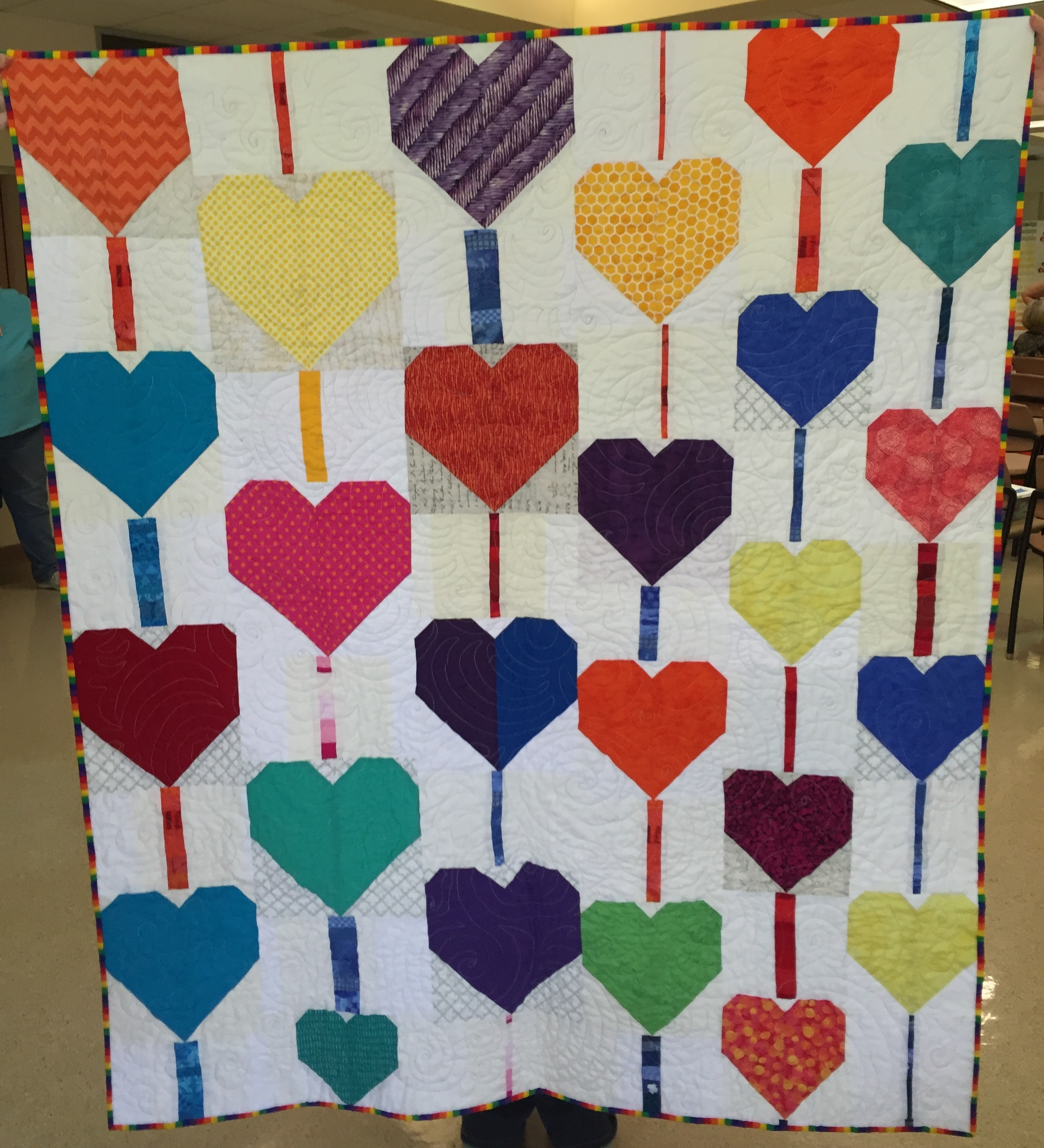 Pieced by Charlotte Noll, quilted by Patti Auten, binding by Kerrilyn O'Rourke