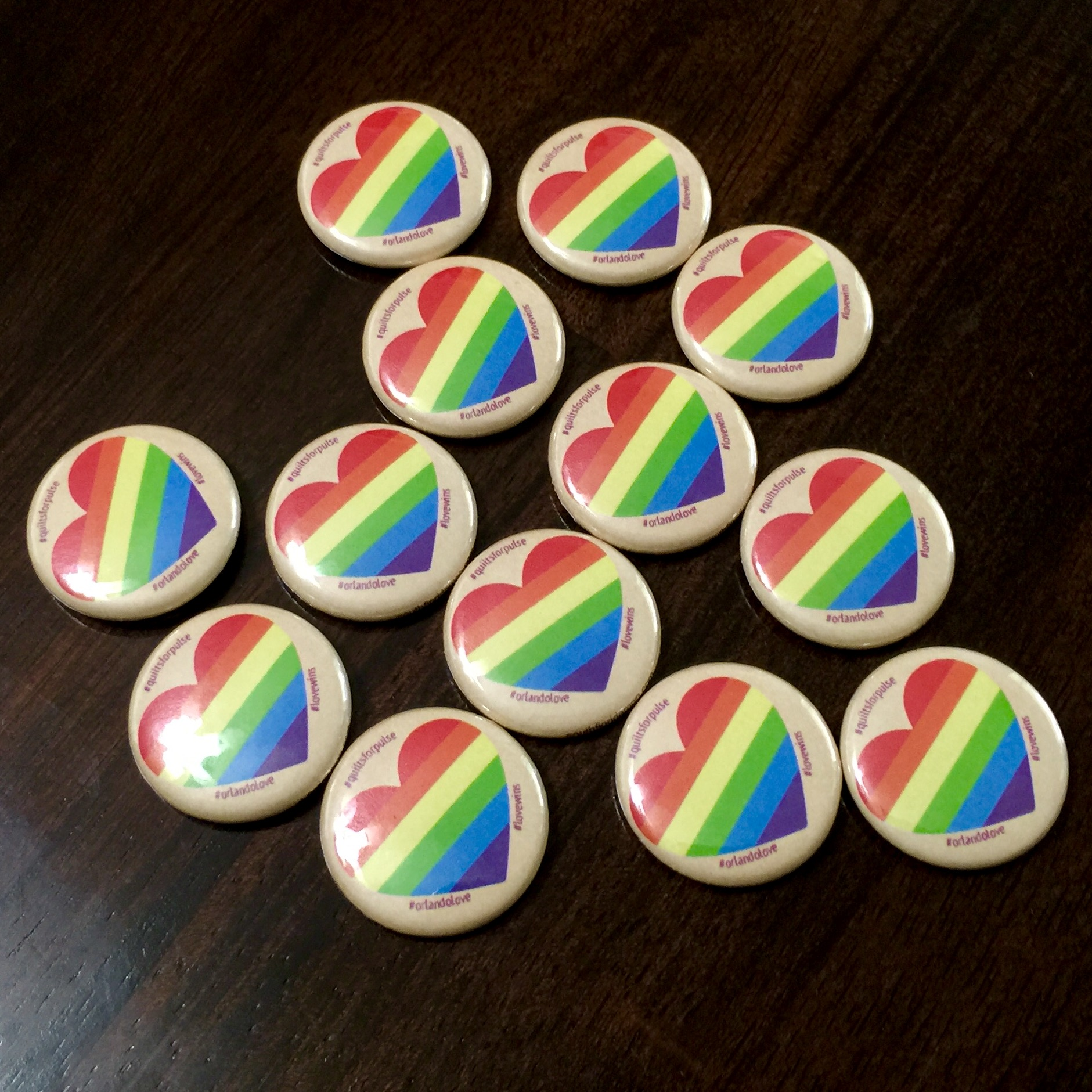 Buttons for everyone who participated