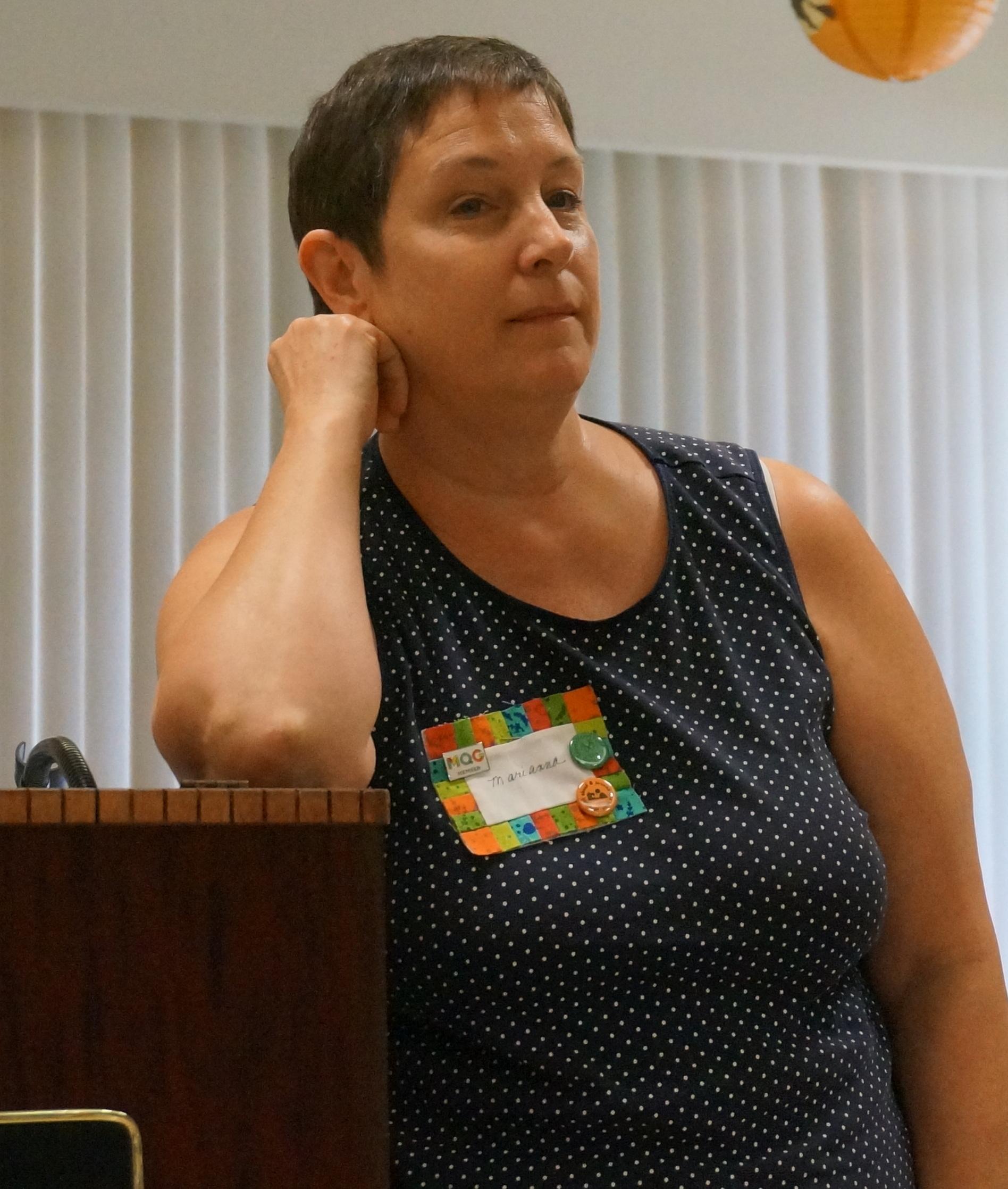 Treasurer candidate Marianna Steele