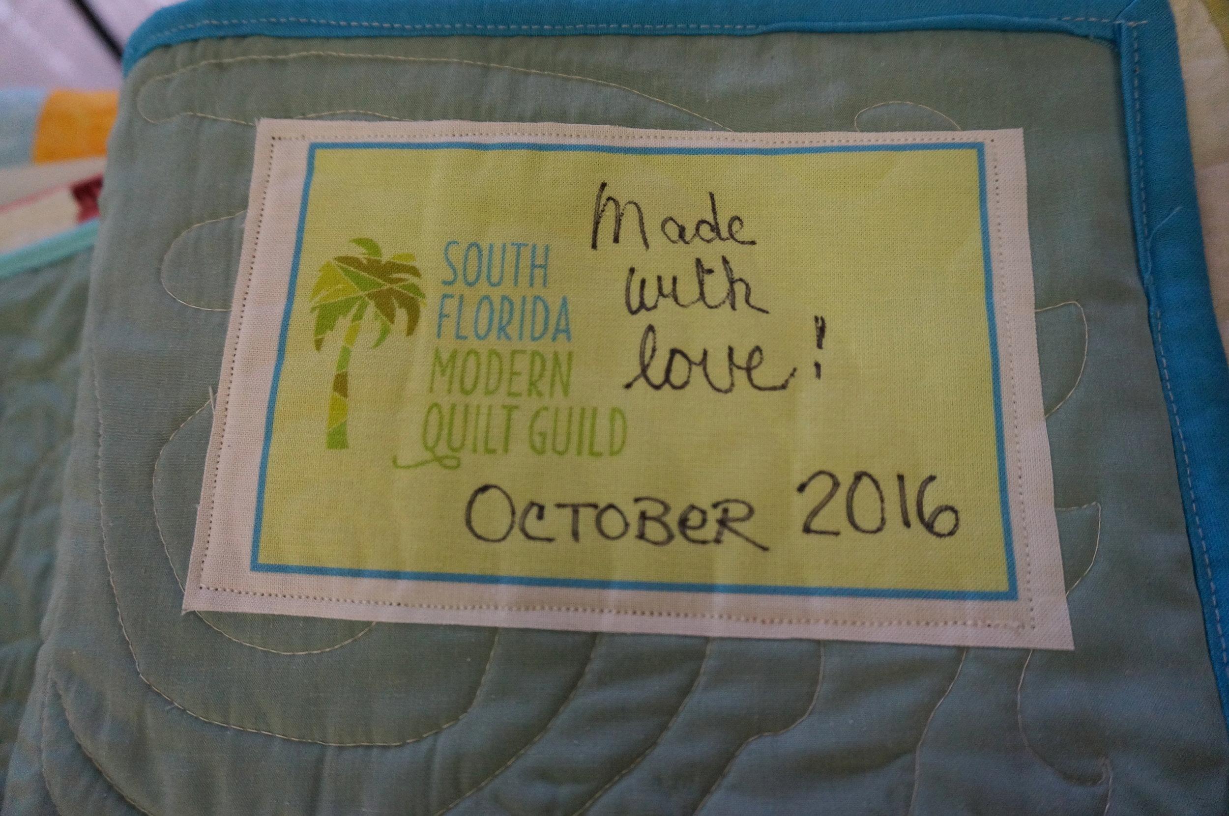 Community Service quilt labels!