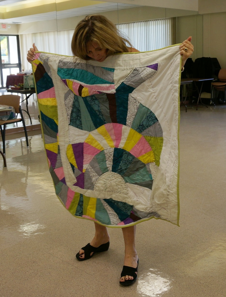 Penny Stern showed an improv curves quilt.