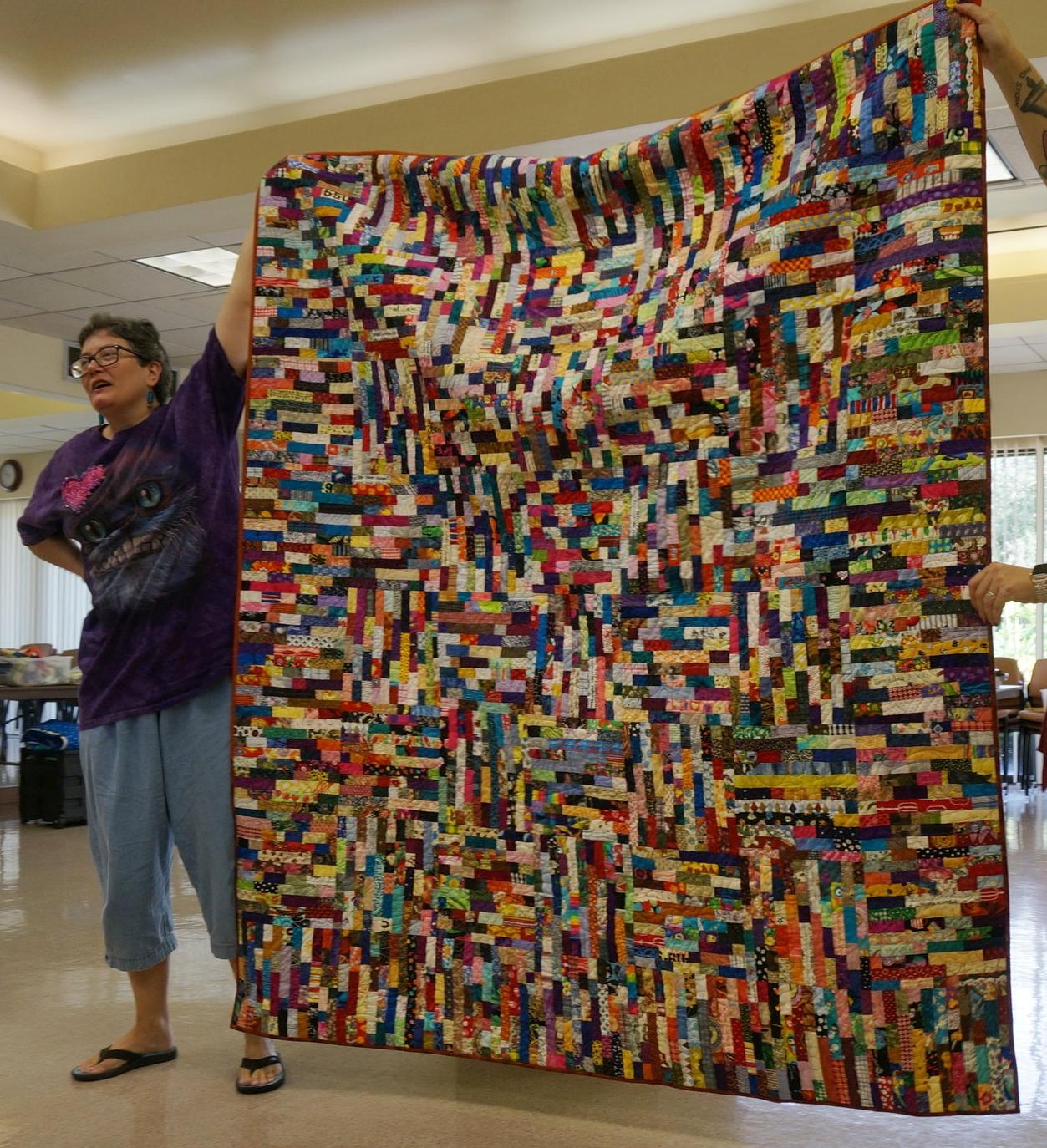 Tonya Ricucci's scrap quilt