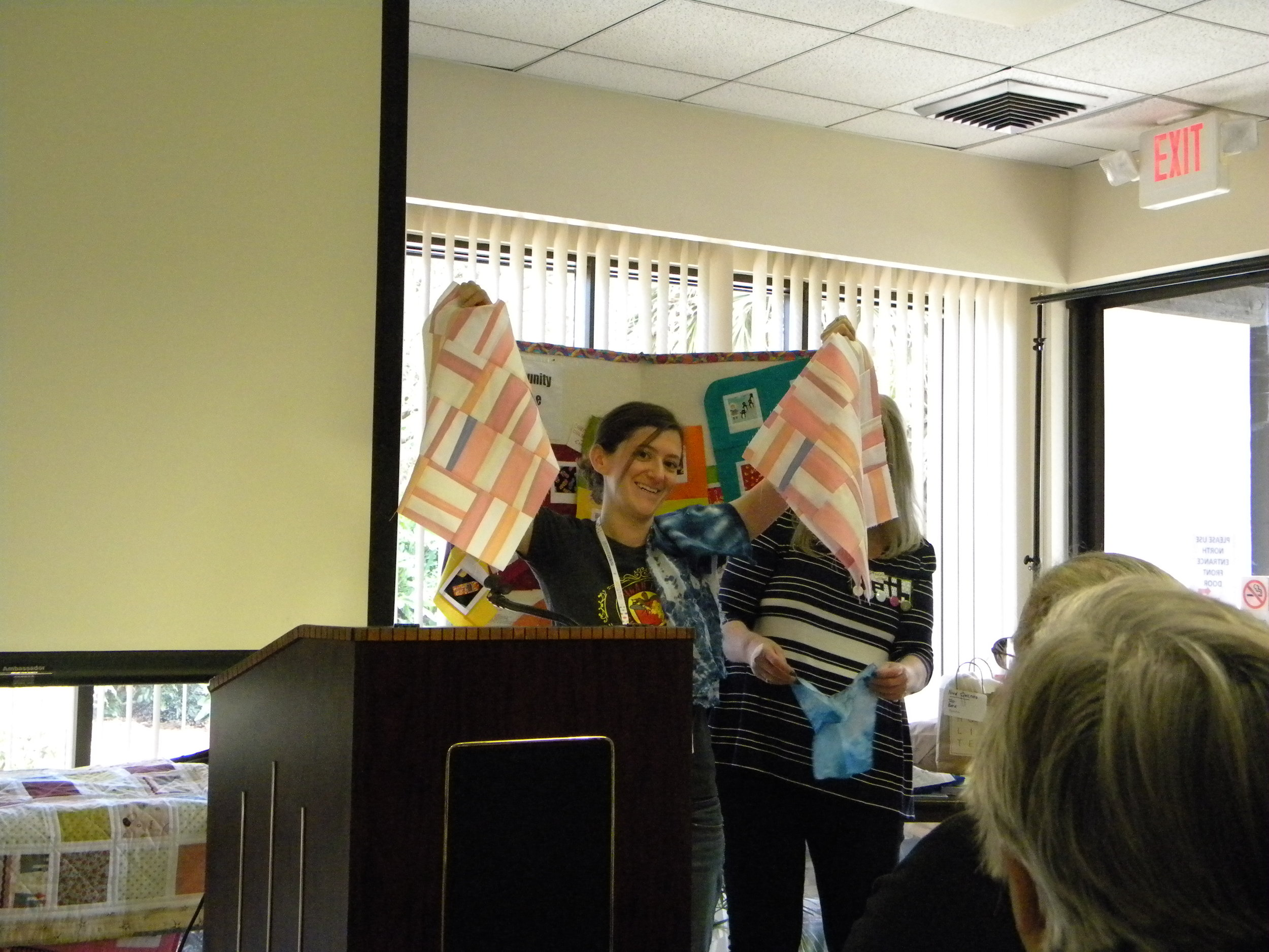 Alyson with more QuiltCon class projects!