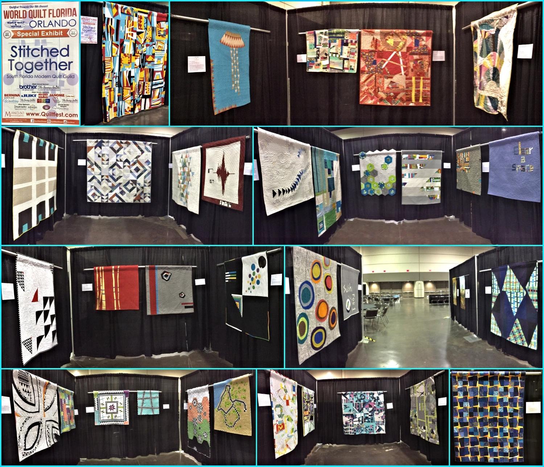 The amazing 2017 SFMQG Exhibit at Mancuso World Quilt Florida in Orlando!
