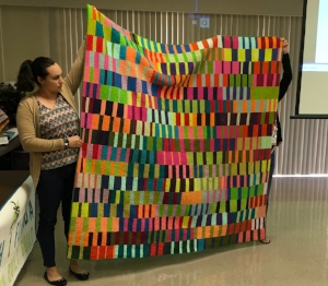 Andrea presented quilting with solids