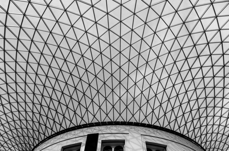 The British museum ceiling