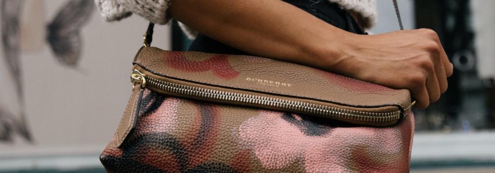 Womens with fashionable handbag