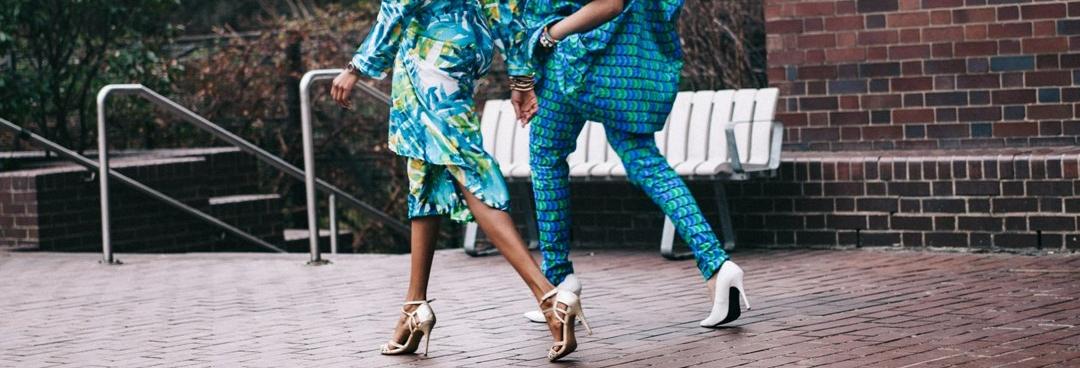 Women wearing fashionable clothing