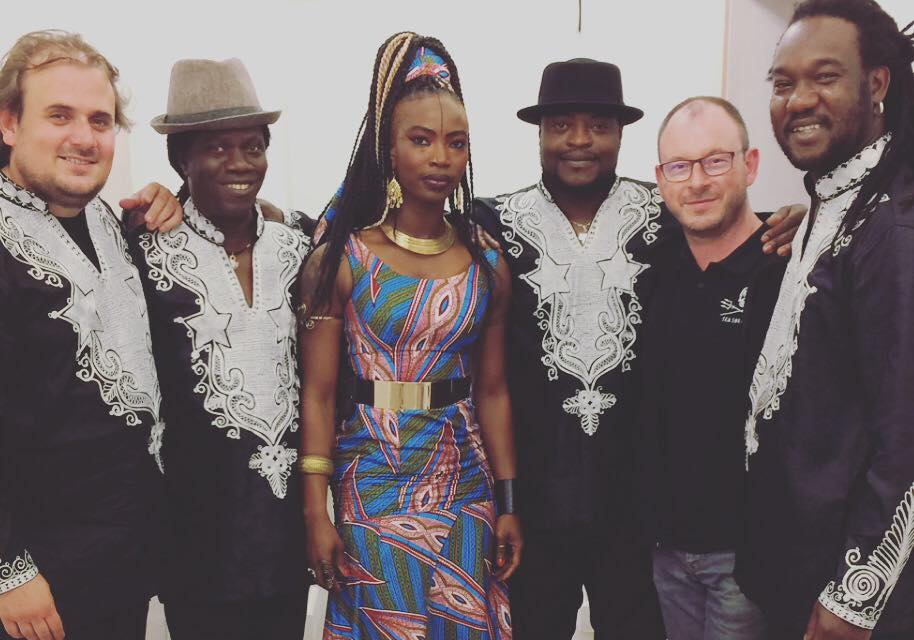 Dobet Gnahore and her band with manager patrick and guess.