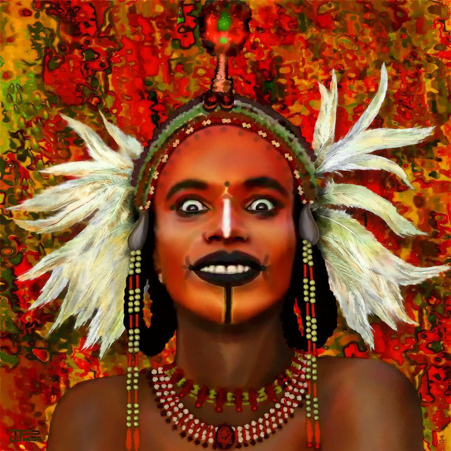 Art inspired by a Wodaabe Bororo man