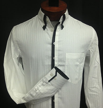 Men's Shirt with Peekout Placket