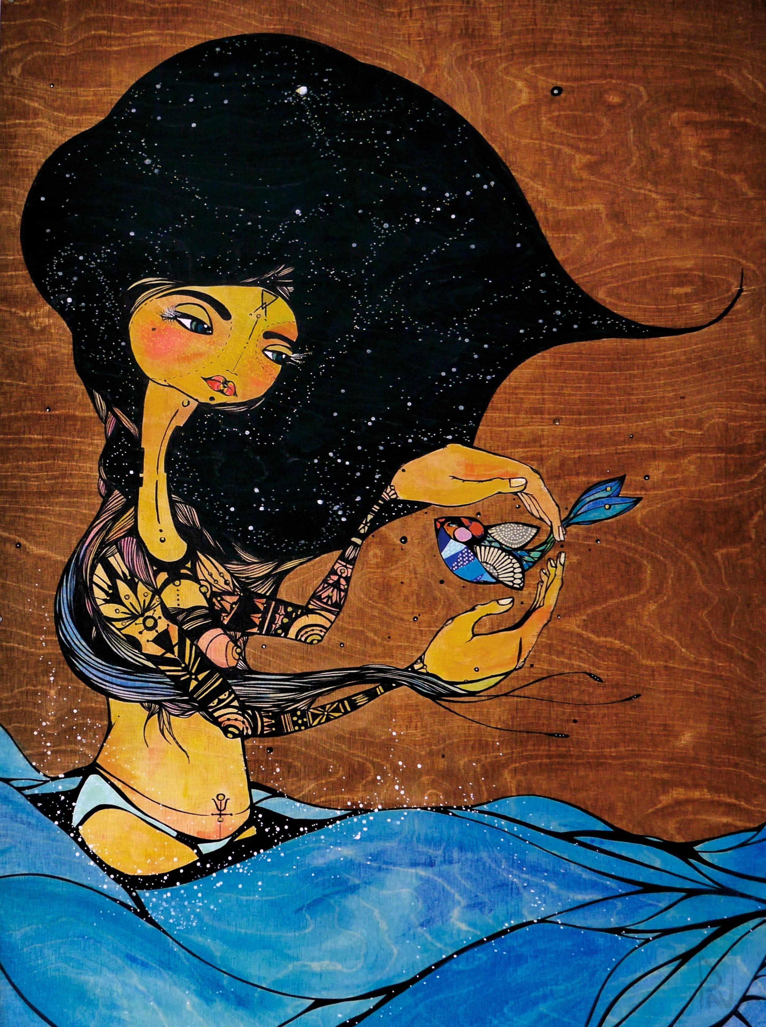 NAKAI (Coming Full Circle Series) 2013   | 61x102 cm |Mixed Media on Wood