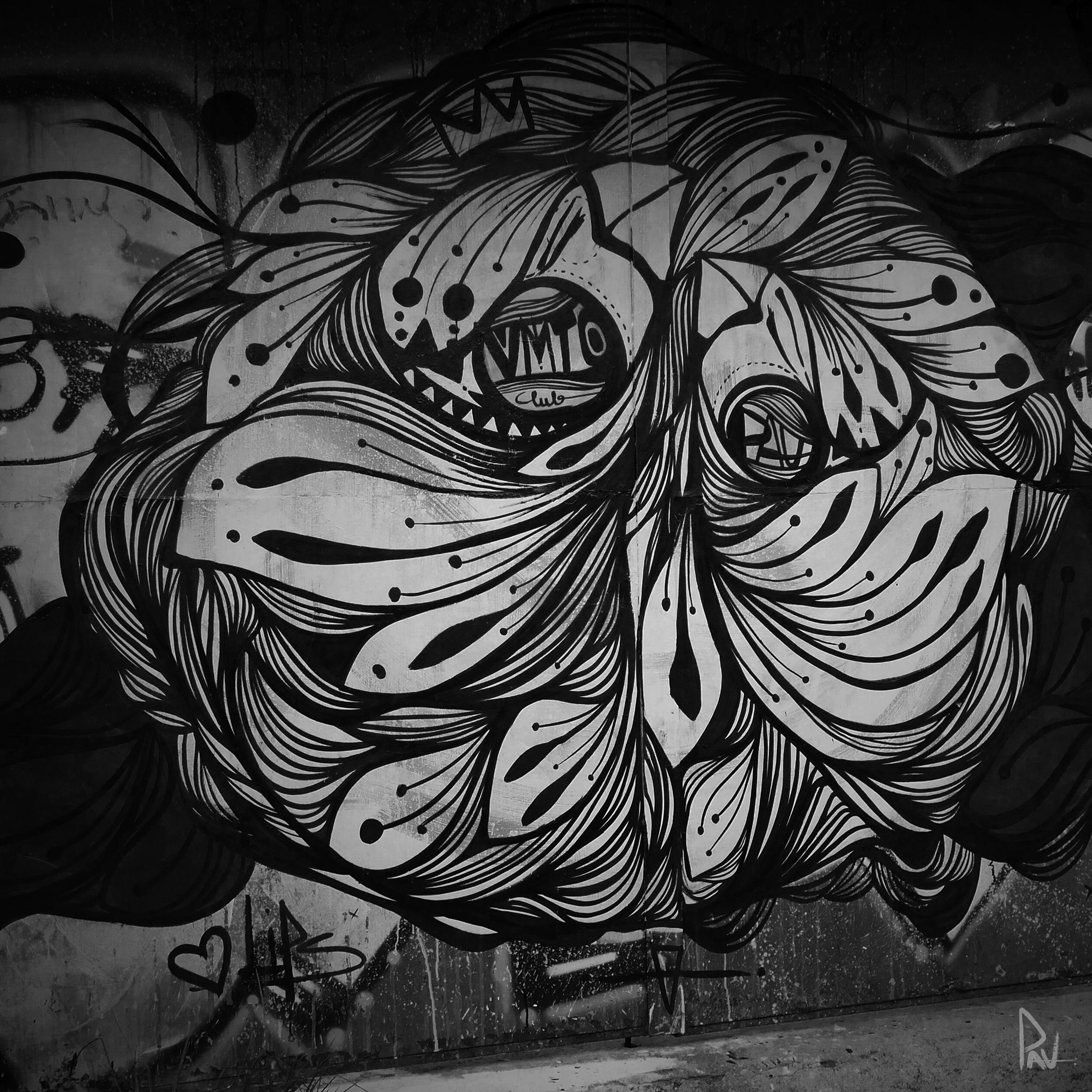VALPARAISO - Mural painted at Cerro Alegre, Valparaiso-Chile 2016