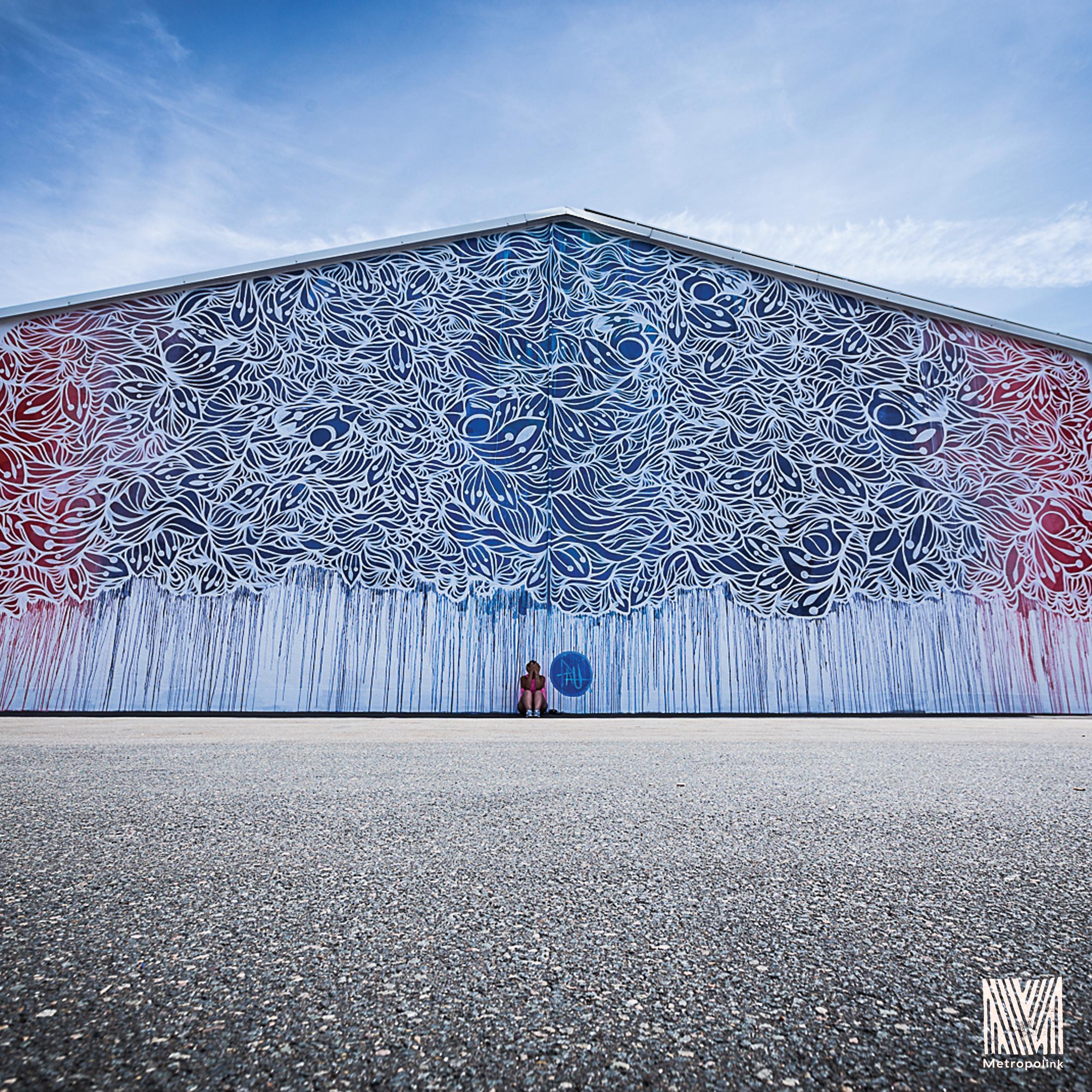 TRAVELERS - Mural painted for Metropolink Festival . Heidelberg , Germany 2016
