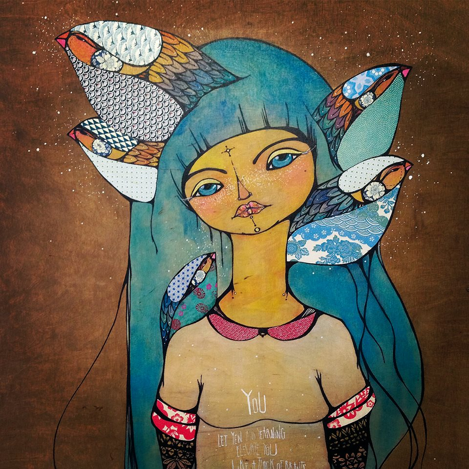 WELCOME (Coming Full Circle Series) 2013   |Mixed Media on Wood