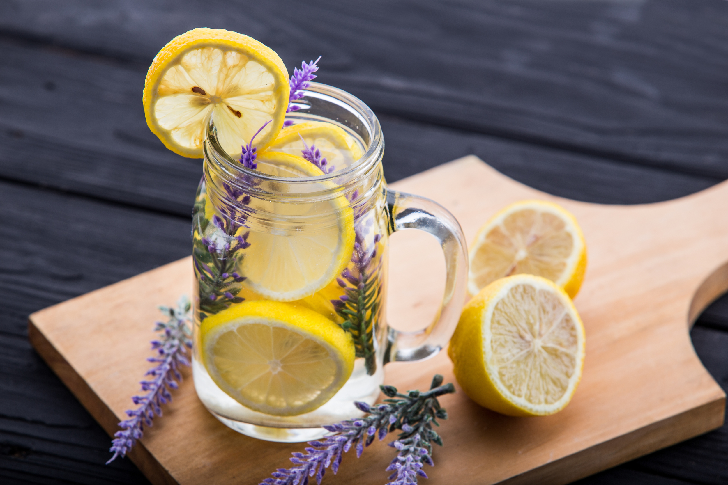 Lavender and lemon infused water!