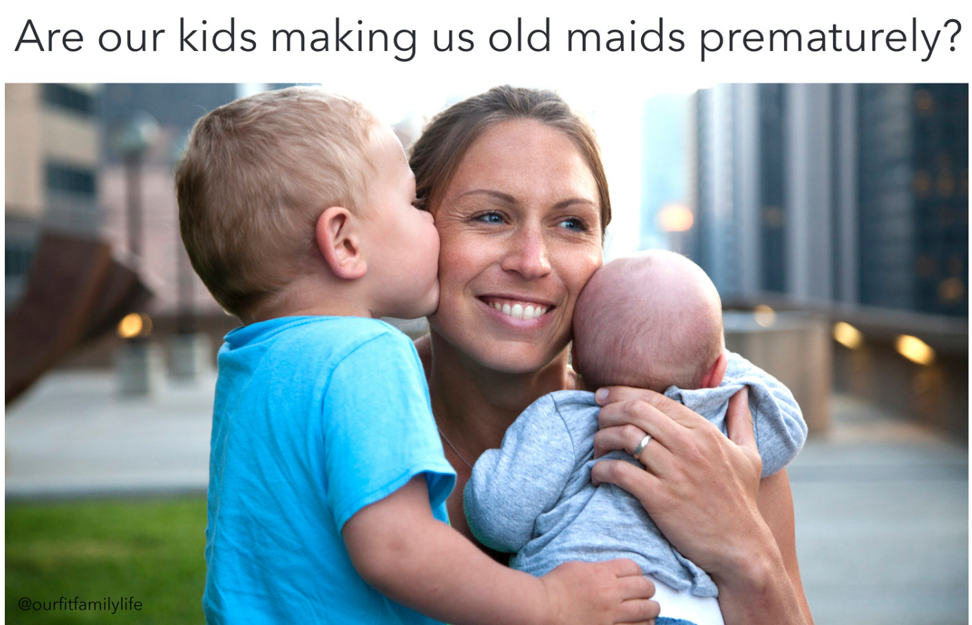 motherhood premature aging skin