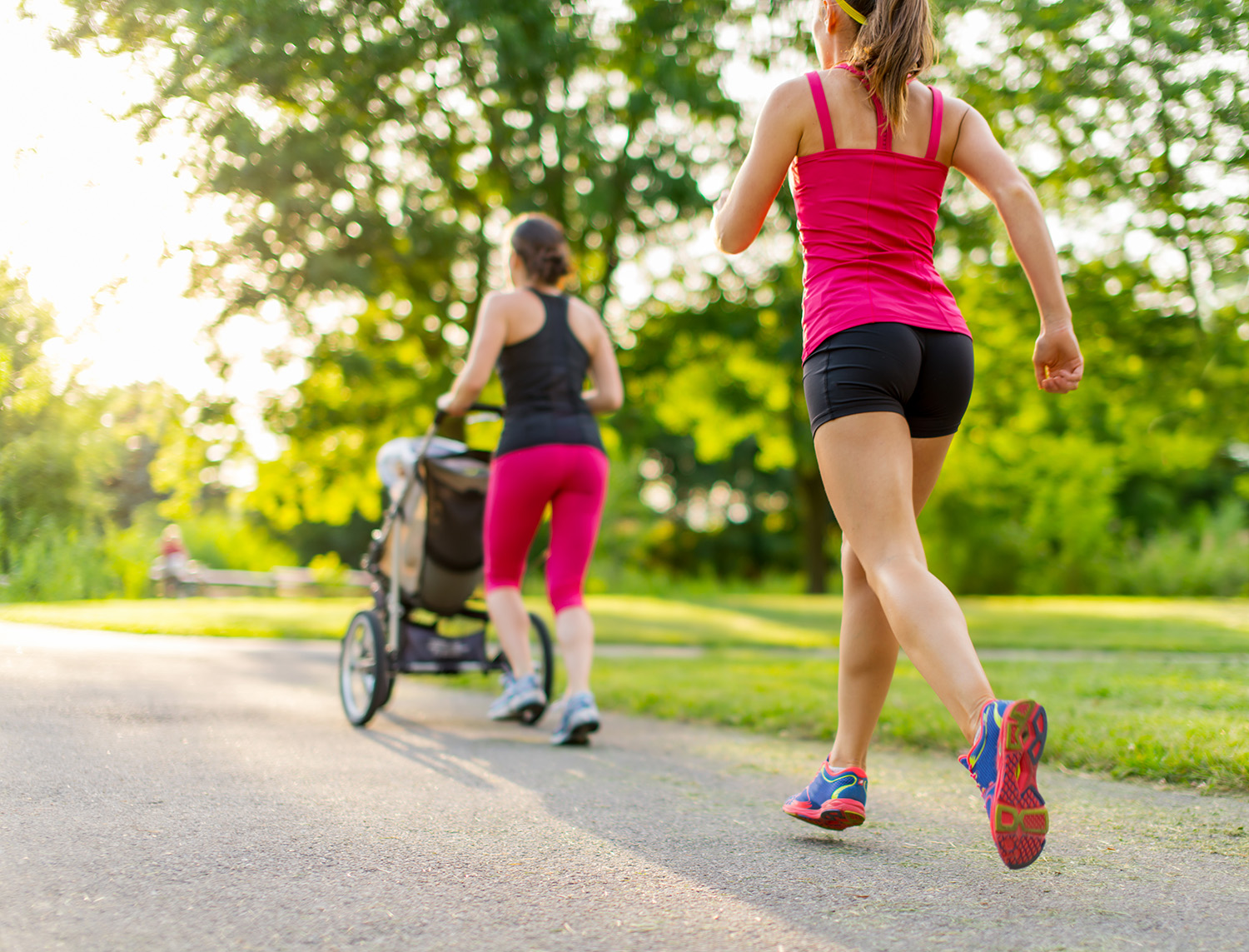 Running Postpartum - Running with a stroller requires more advanced core strength