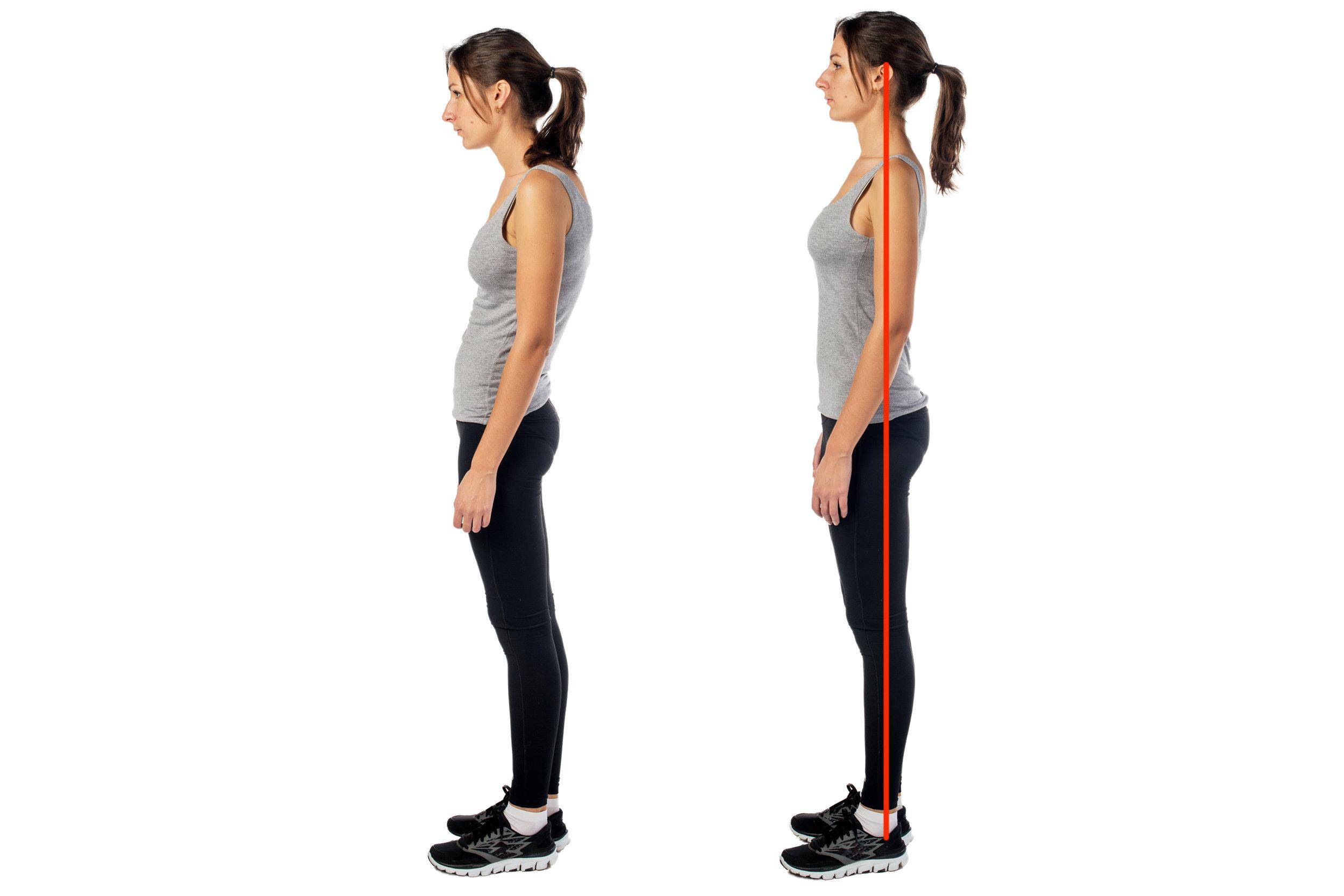 female posture - mom posture / good posture women