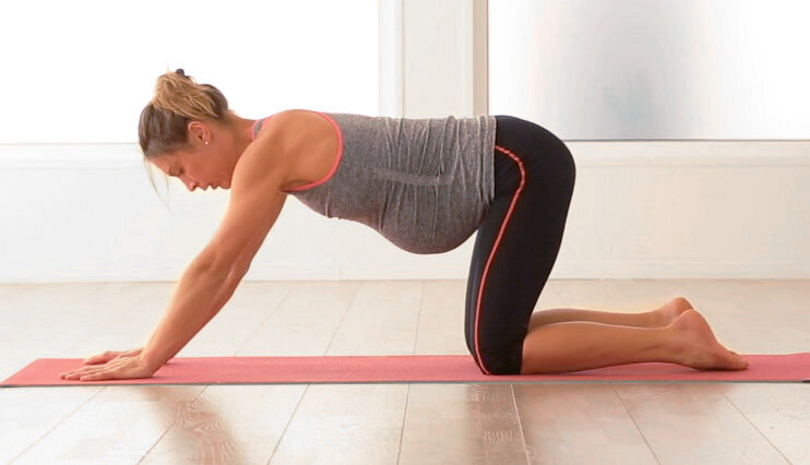 All fours - Pregnancy exercises third trimester
