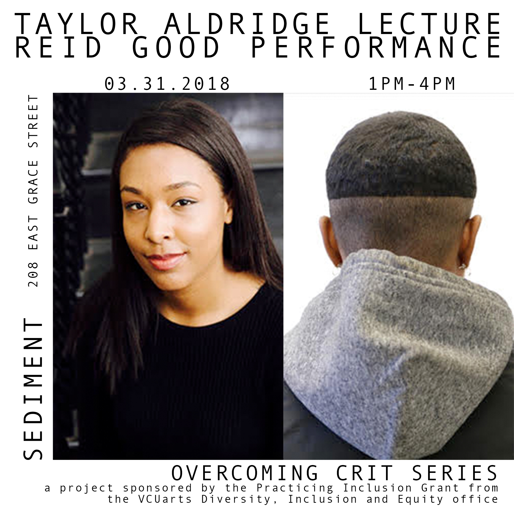 Taylor Renee Aldridge is a Detroit based writer and curator. She received her M.L.A from Harvard University with a concentration in Museum Studies and a B.A from Howard University with a concentration in Art History. In 2015 she co-founded ARTS.BLACK, a journal of art criticism from Black perspectives.Taylor is currently the assistant curator of contemporary art at the Detroit Institute of Arts. She has worked for the N'Namdi Center for Contemporary Art, the Ethelbert Cooper Gallery of African & African American Art, and The National Museum of American History (Smithsonian Institutions) as a Goldman Sachs Junior Fellow.Taylor is the 2016 recipient of The Andy Warhol Foundation Creative Capital Arts Writers Grant for Short Form Writing. She has written for Art21, ARTNews, ContemporaryAnd, Detroit MetroTimes, SFMoMA's Open Space and Hyperallergic.   reid good is an interdisciplinary artist and musician based in Detroit. reid grew up in a musical household in Flint, MI and began writing songs and producing music at the tender age of 8-years-old. Performing under a variety of stage names since the early 2000's, reid good reemerged onto the musical scene in 2017 with their debut EP,