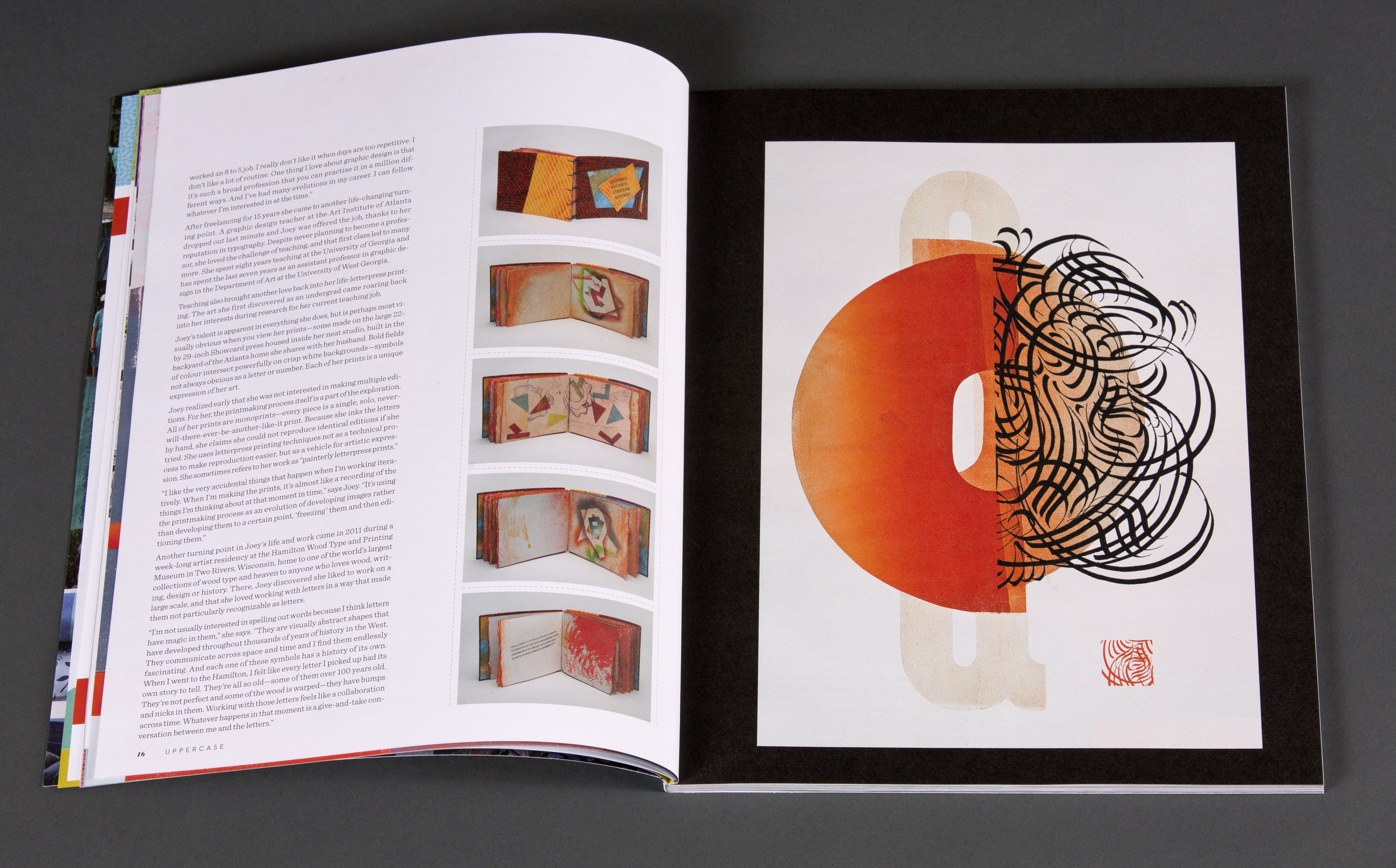 inside spread / uppercase magazine