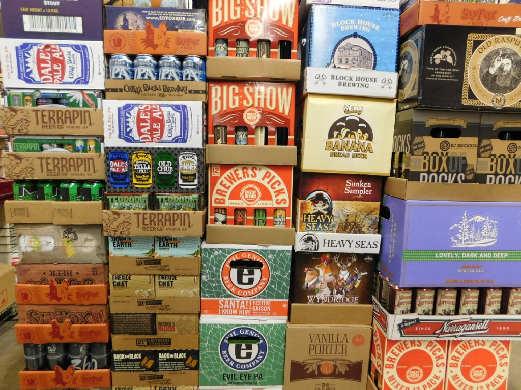 Craft beers make up a huge part of our inventory.  We carry over 100 different craft beers, with a selection that is steadily increasing!