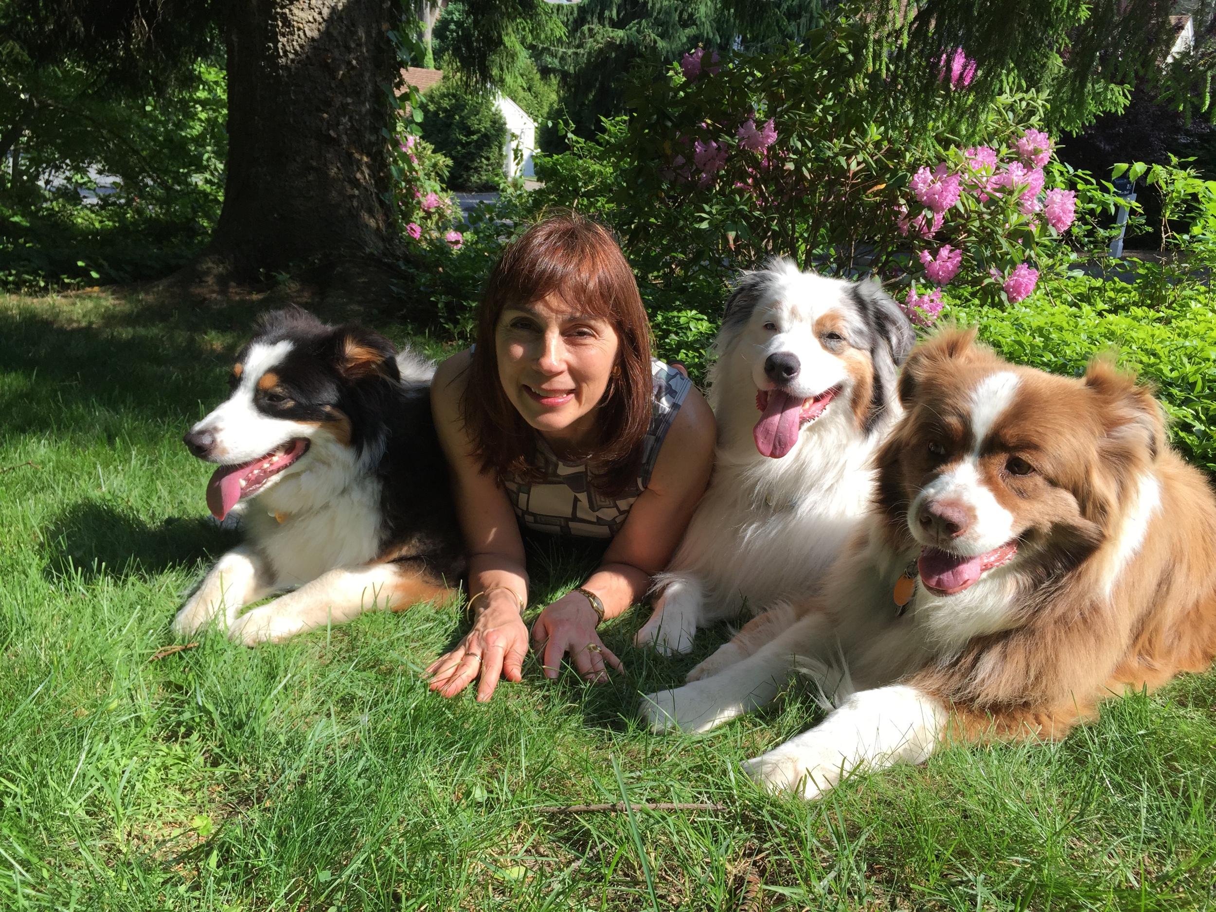 Susan with Benny, Simon and Cami.JPG