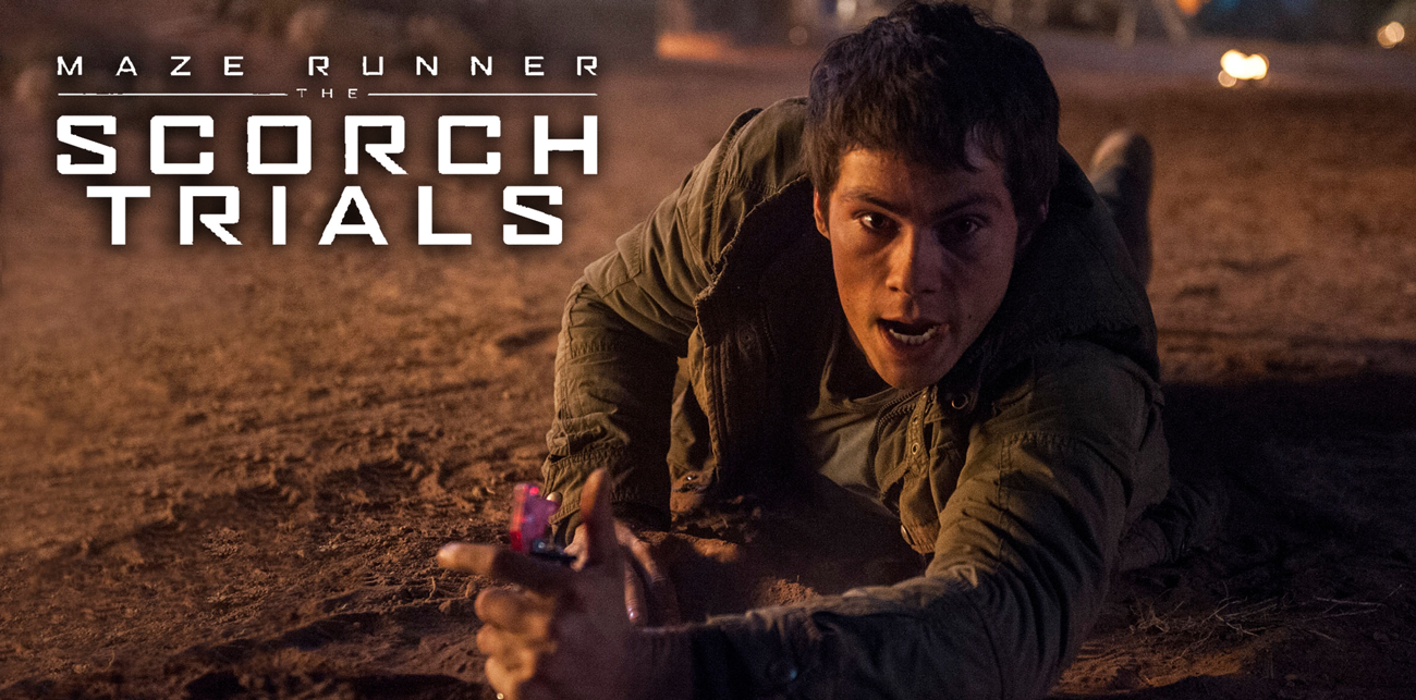Dystopian sci-fi action thriller The Scorch Trials stars Dylan O'Brien and Kaya Scodelario.