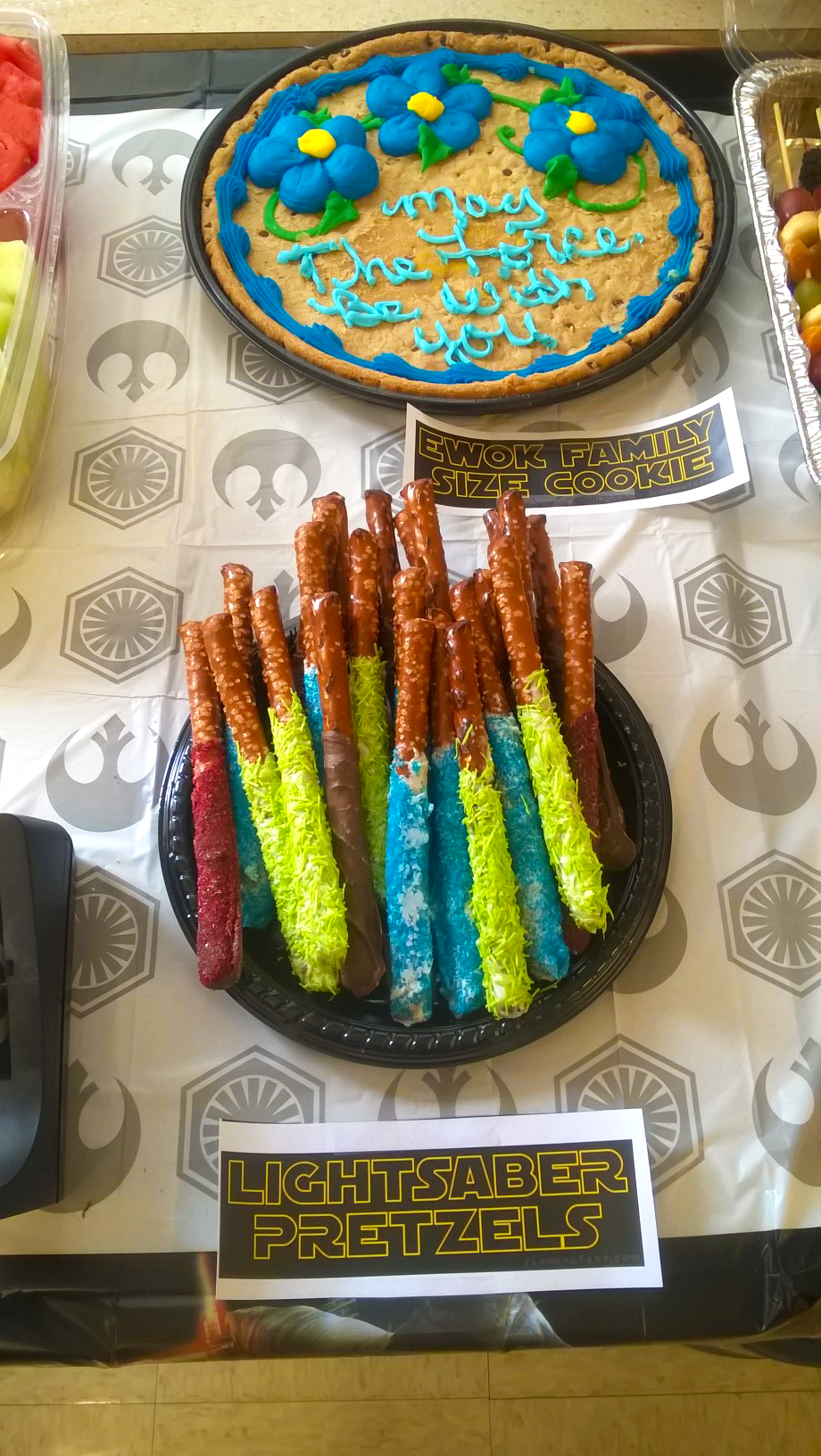 Lightsaber pretzel sticks