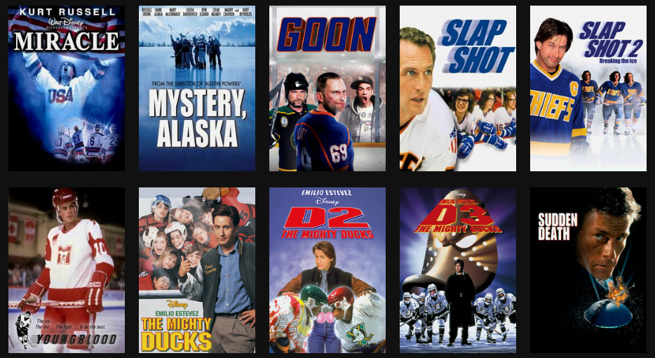 Rent hockey movies on DVD and Blu-ray