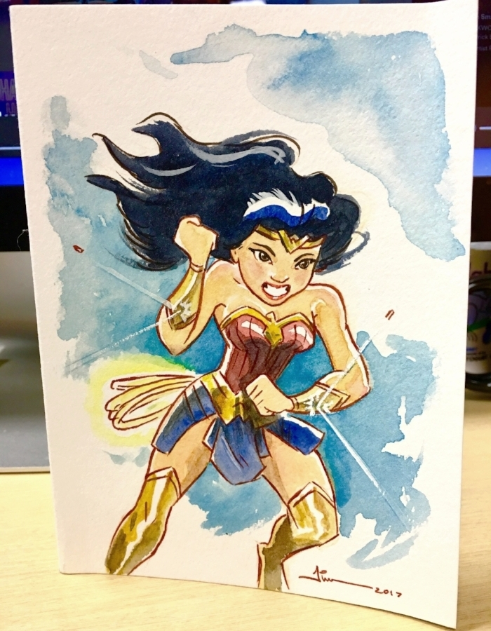 Tim sent me this wonderful thank you card that sits on my desk!