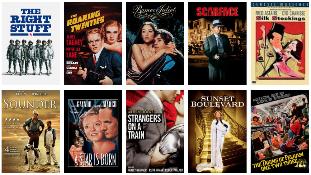 Rent a classic movie marathon to watch at home