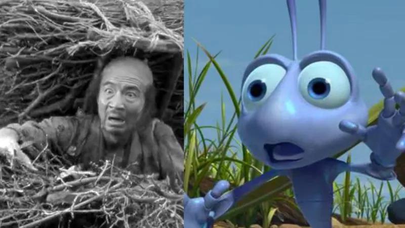 Similarity between Seven Samurai (1954) and A Bug's Life (1998).