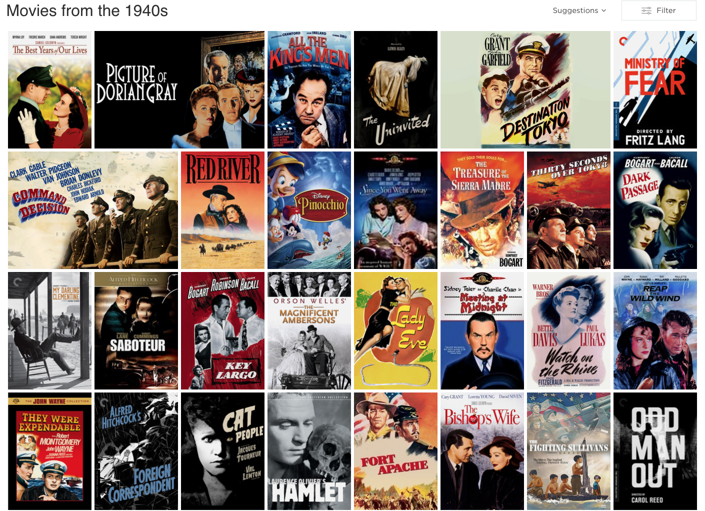 Films of the Forties - Netflix DVD Blog