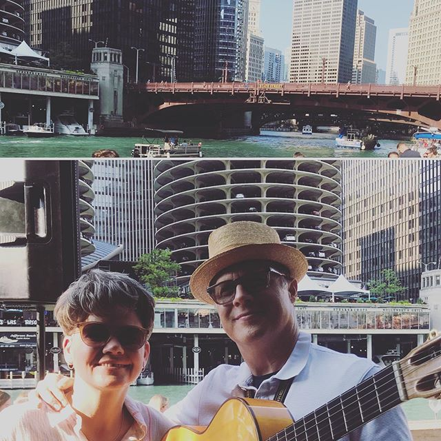 Didn't quite make it to San Juan due to a gig with Neil Dixon Smith at City Winery Riverwalk. Gorgeous day in Chicago, btw. #neilandjanetdeloseeuu