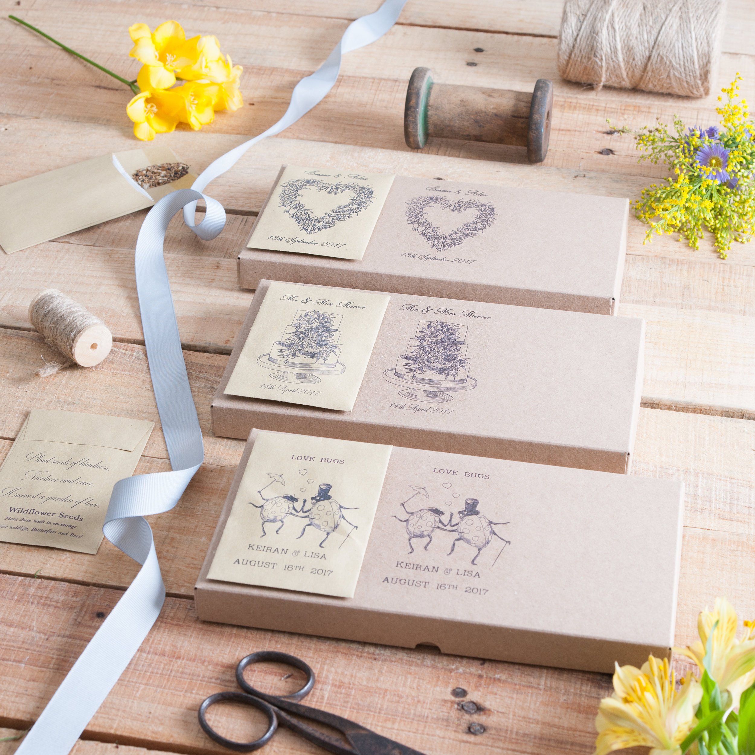 Personalised Wildflower Seed Favours