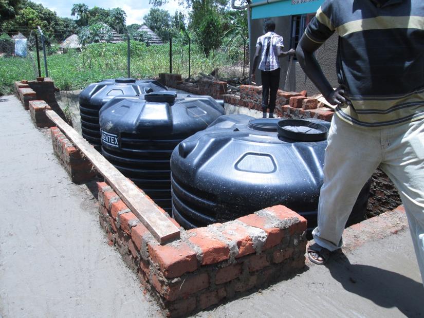 Rainwater Storage Tank System Under Construction, September 2015.