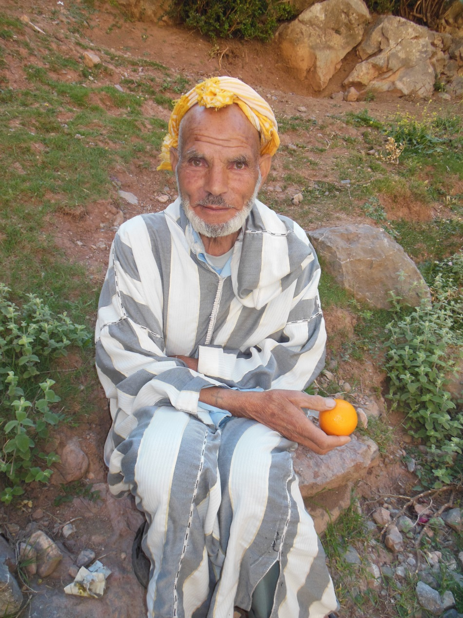 "Our ""orange rescue"" man at the Taghia Springs."