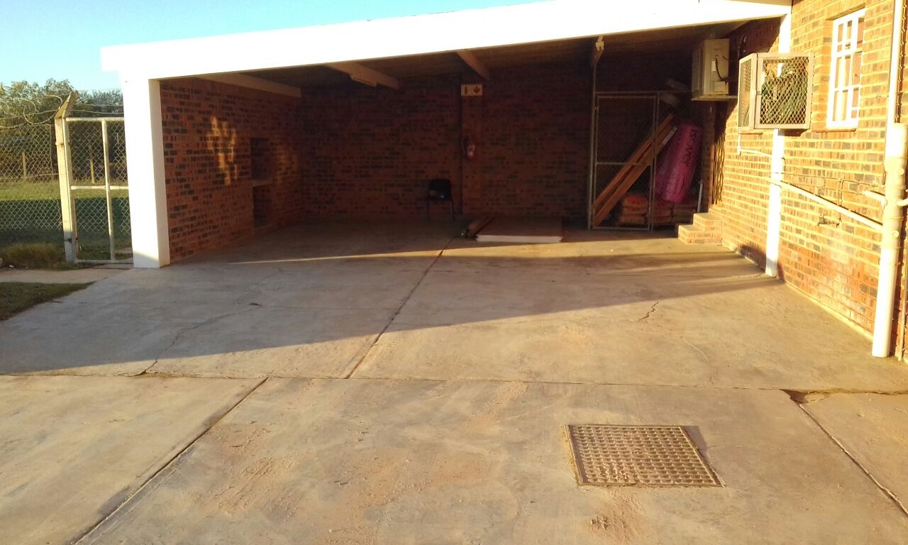 The car port before transformation