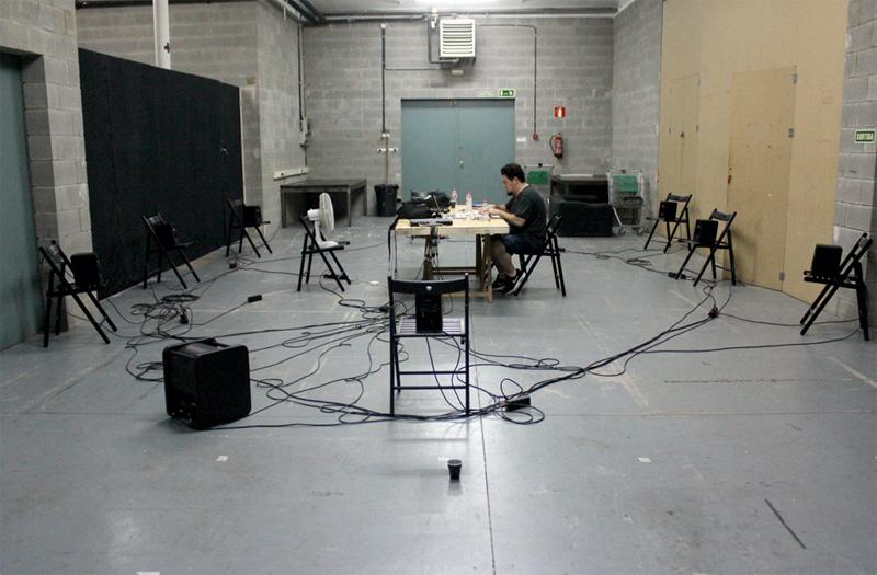 Sound Spatialization study test @ Hangar Art Center