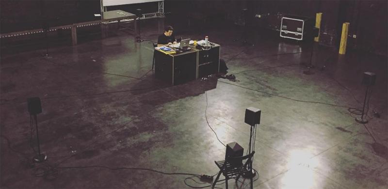 Final Speakers test @ Hangar Art Center