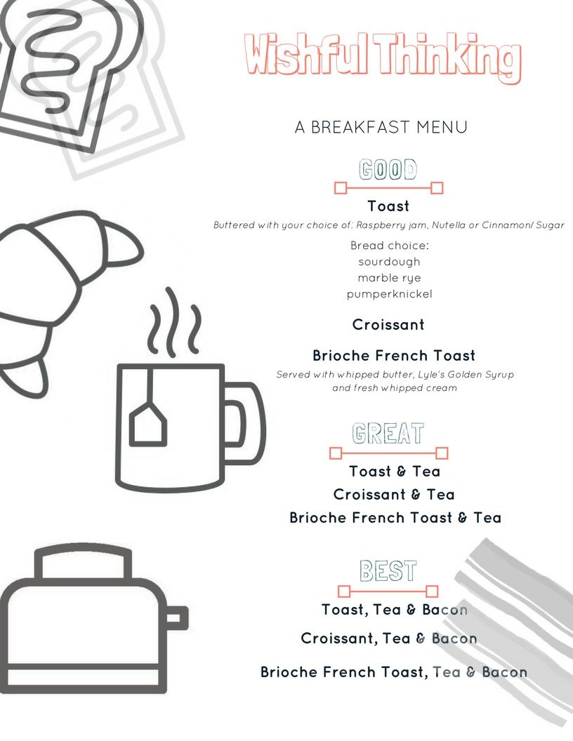 wishful menu