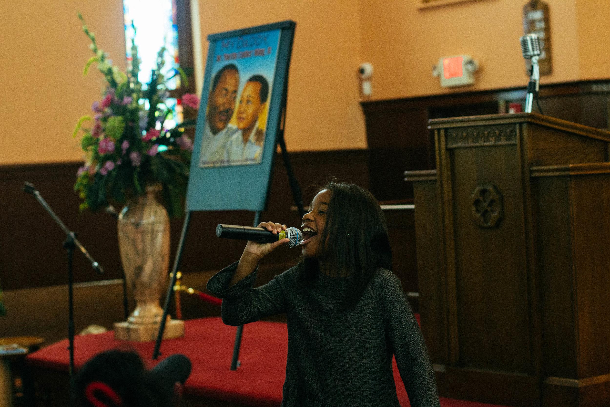 Yolanda Renee King at The Historic Ebenezer Baptist Church  Photos by: Jeremy Dion Jenkins