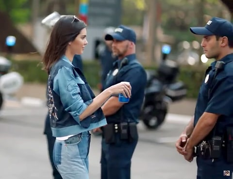 Kendall Jenner in Pepsi's new ad // Source: Pepsi Global