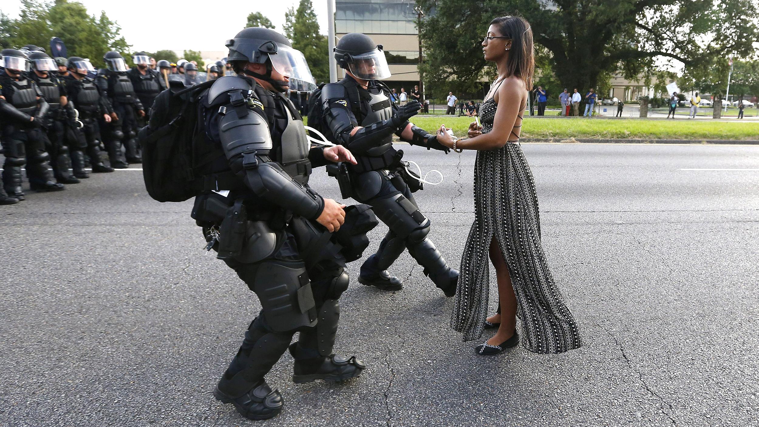 Iesha Evansin Baton Rouge photographed by Jonathan Bachman for Reuters