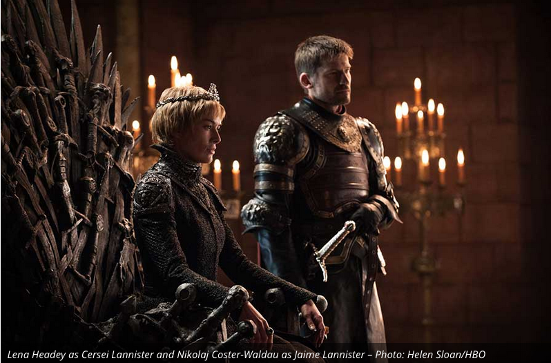 It looks like Jaime is still planted firmly by his sister/lover's side (at least in public). I say that last part because Jaime became the Kingslayer for killing The Mad King Aerys Targaryen because he talked about doing the exact thing Cersei did, blowing up half of Kings Landing. (Technically, I think The Mad King wanted to blow up the entire city, but no need to nitpick). Nerdist just posted a new theory about the possibility of Jaime being the prophesied return of Azor Ahai and revealed a theory that perhaps Jaime and Cersei are only half Lannisters, being the children of Joanna Lannister and Aerys Targaryen. This rivals my own theory that Cersei is indeed The Mad Kings daughter. I don't disagree with their theory, however it seems there can only be three heads of the dragon at a time. We have Dany and Jon. Jaime and Cersei would make four. Here are the links to those theories. Nerdist Theory:  https://www.facebook.com/Nerdist/posts/1658593500825118  ; My Theory:  http://gamesforthethrone.blogspot.com/2017/03/my-crazy-game-of-thrones-theory-season.html
