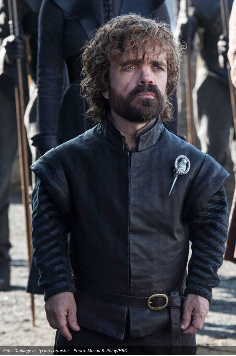 Tyrion listening and advising.