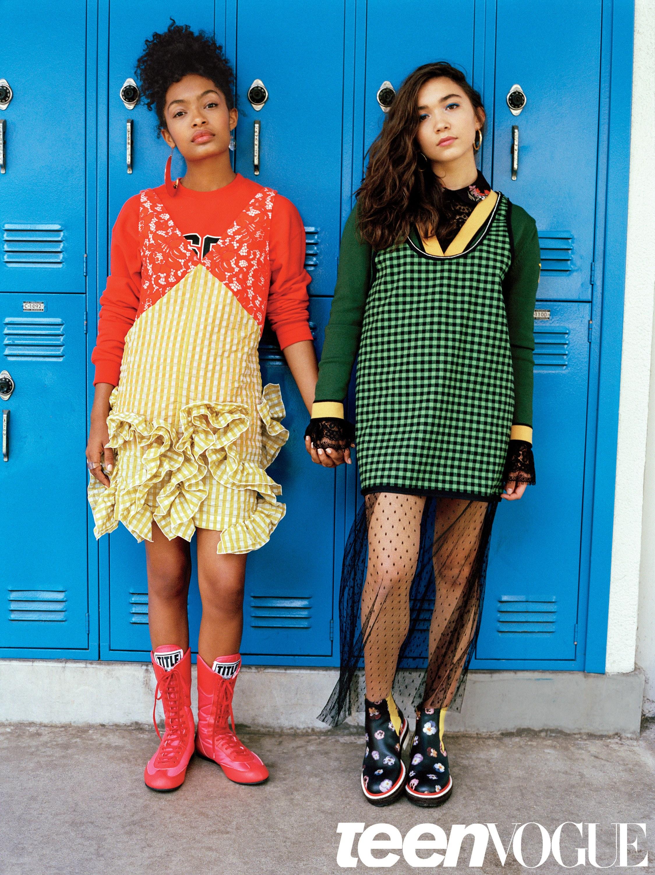 Image: Yara Shahidi and Rowan Blanchard for Teen Vogue